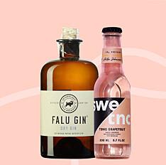 Falu Gin och Swetnc Tonic Grapefruit