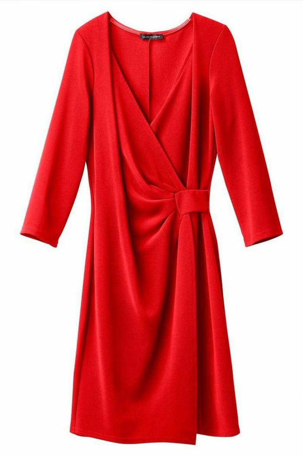 klarröd sammetsklänning