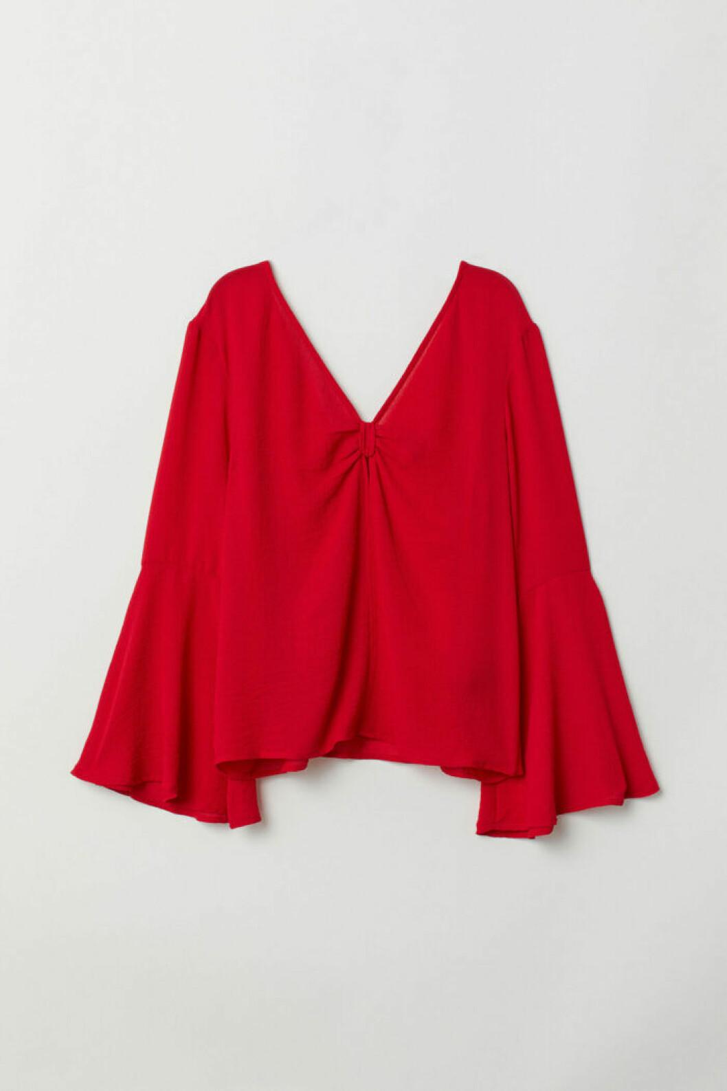 Klarröd blus från H&M
