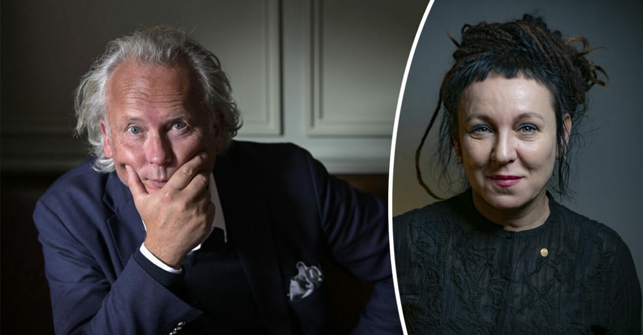 Klas Östergren, författare, Olga Tokarczuk, författare och Nobelpristagare 2019