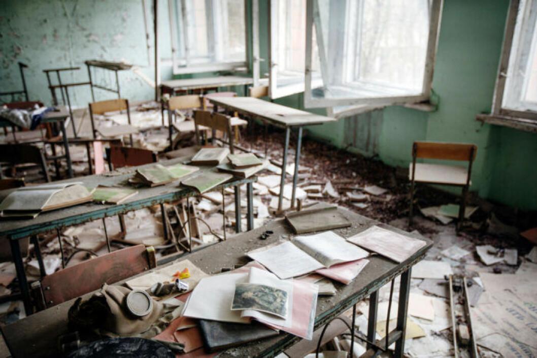 Klassrum i Tjernobyl