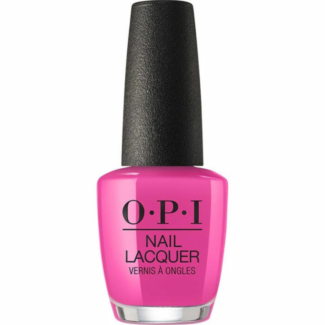 Knall rosa nagellack från Opi