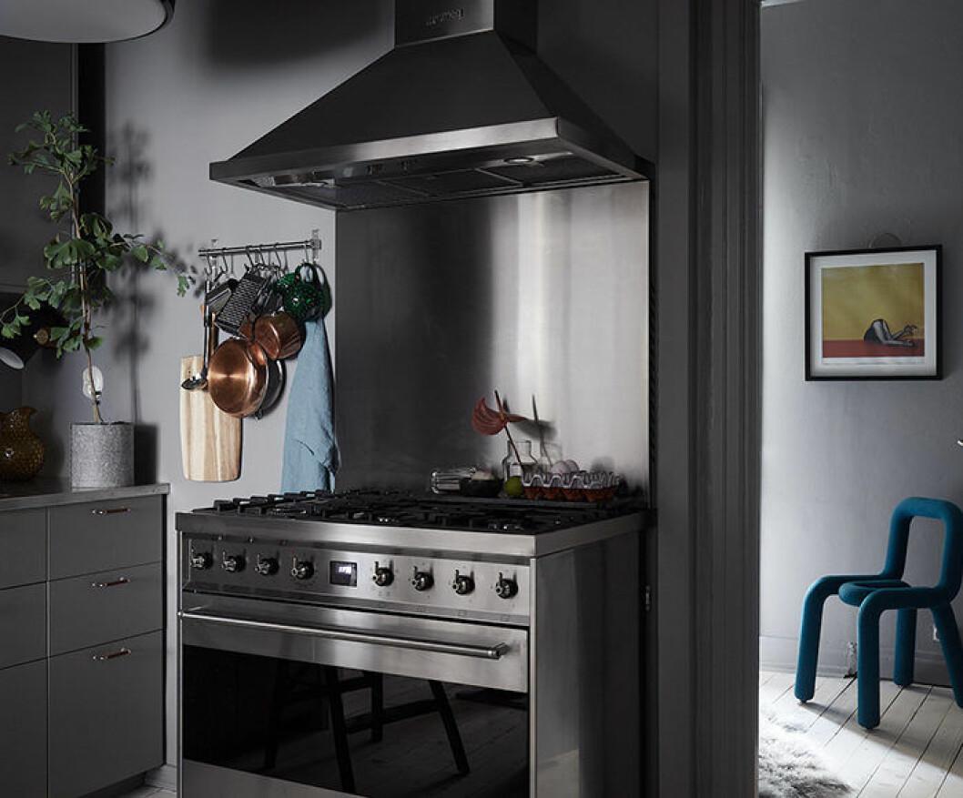 Välplanerat kök i rostfritt