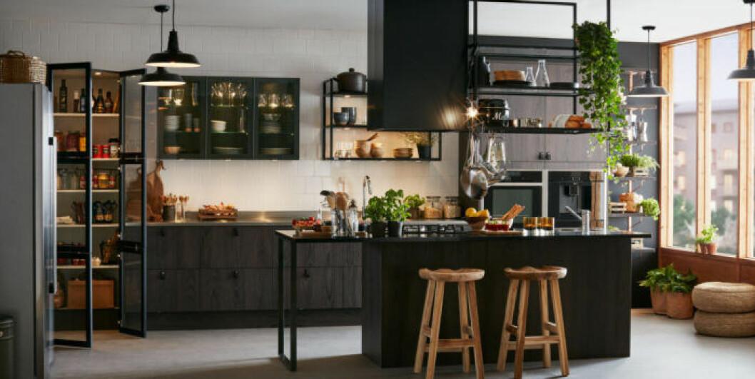 Inspirerande kök i svart