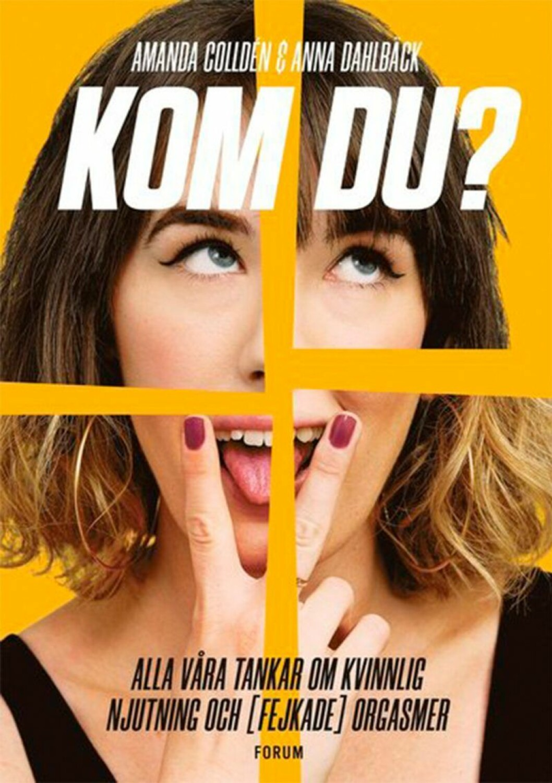 Bokomslag till Kom du? Porträtt på kvinna med två fingrar framför munnen med tungan som sticker ut.