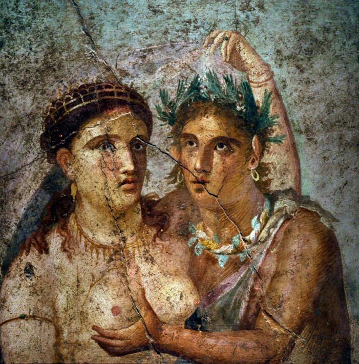 Fresk från Pompeji.