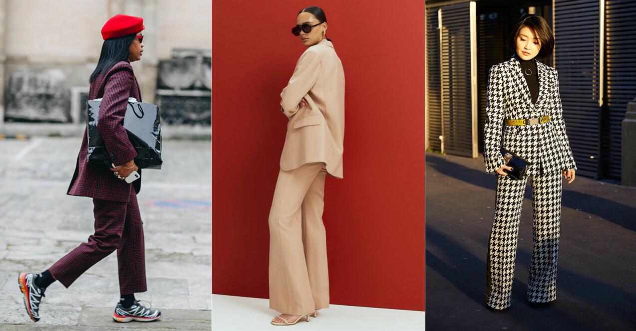 trendig kostym för dam hösten 2021