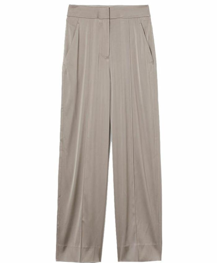 kostymbyxor i silke från hm
