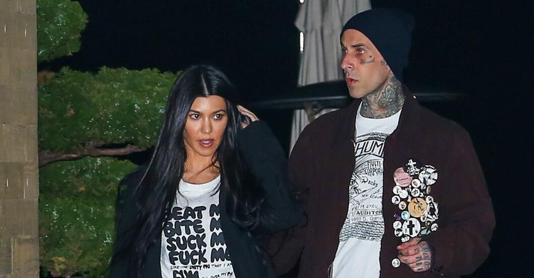 Kourtney Kardashian och Travis Barker har varit ett par i snart ett halvår!