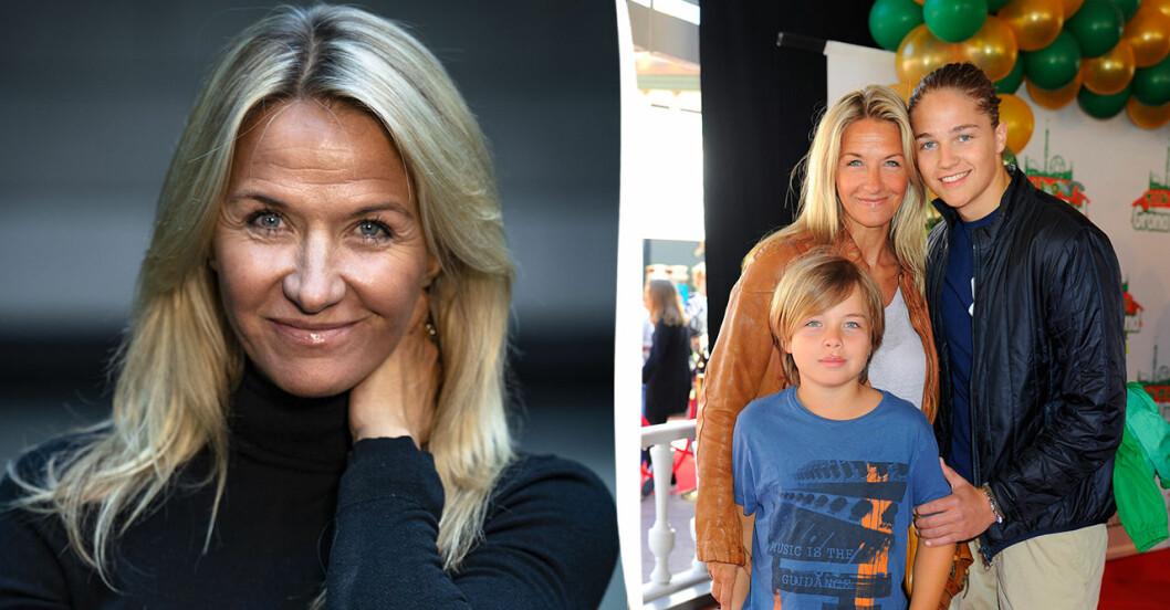 Kristin Kaspersen om kravet på sönerna Leon Fahlén och Filip Lamprecht