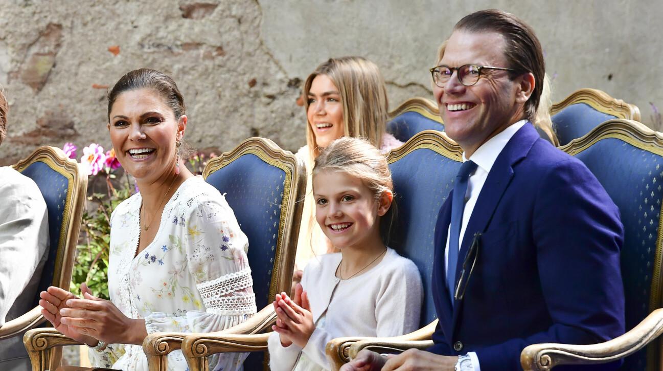 Kronprinsessan Victoria, prinsessan Estelle och prins Daniel