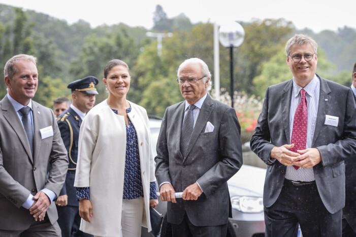 Kronprinsessan Victoria med kung Carl Gustaf