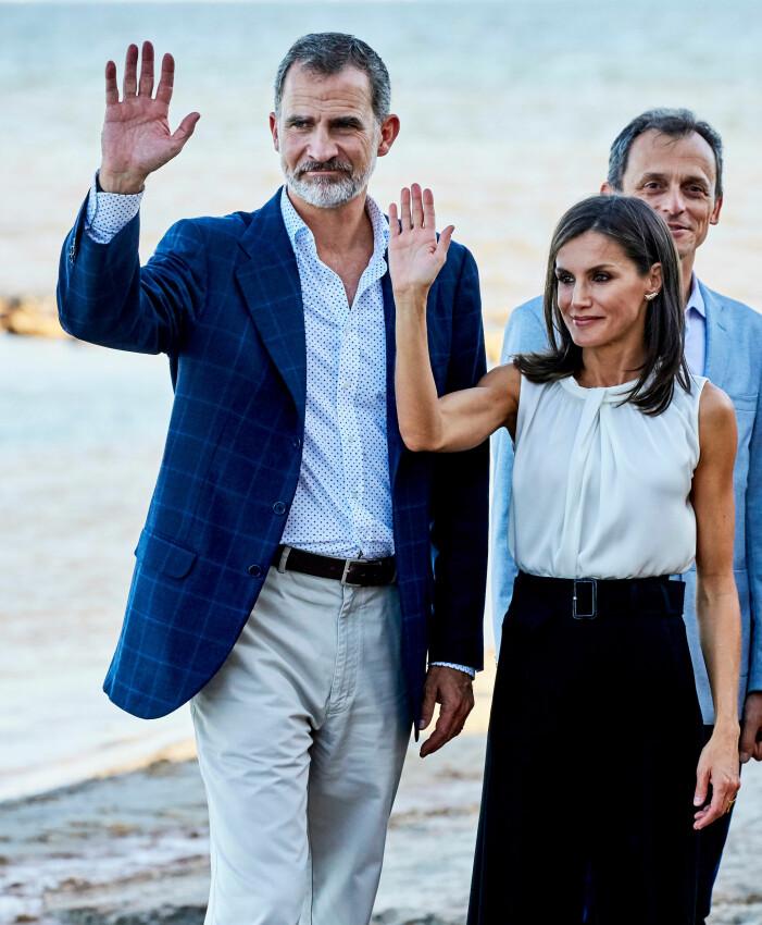 Kung Felipe och drottning Letizia
