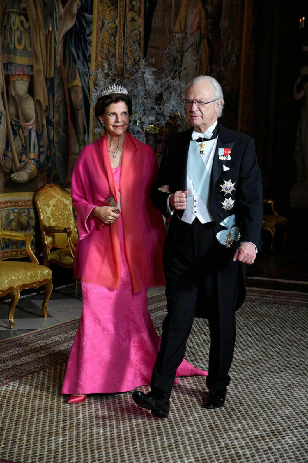 drottning silvia nobel middag slottet