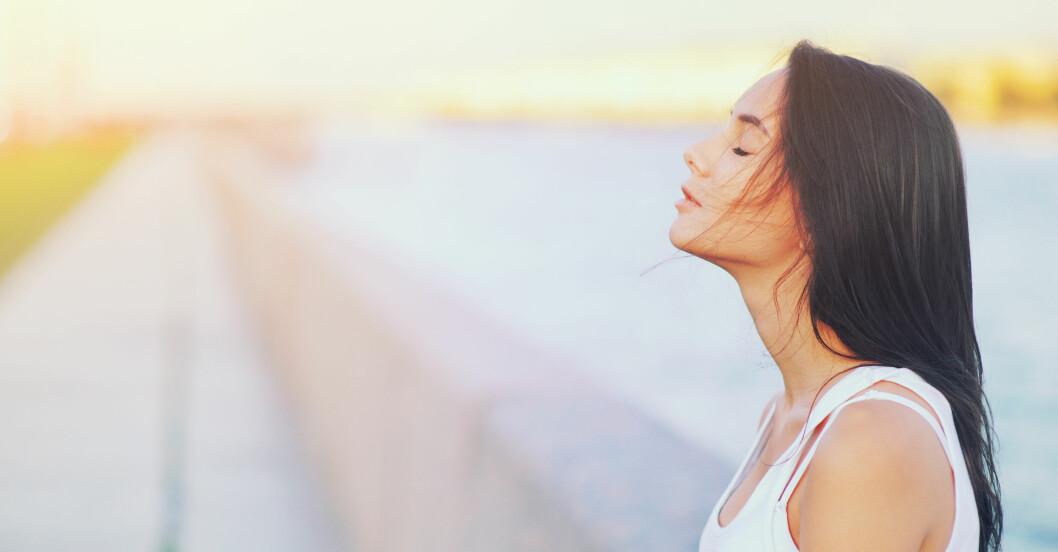 Kvinna andas