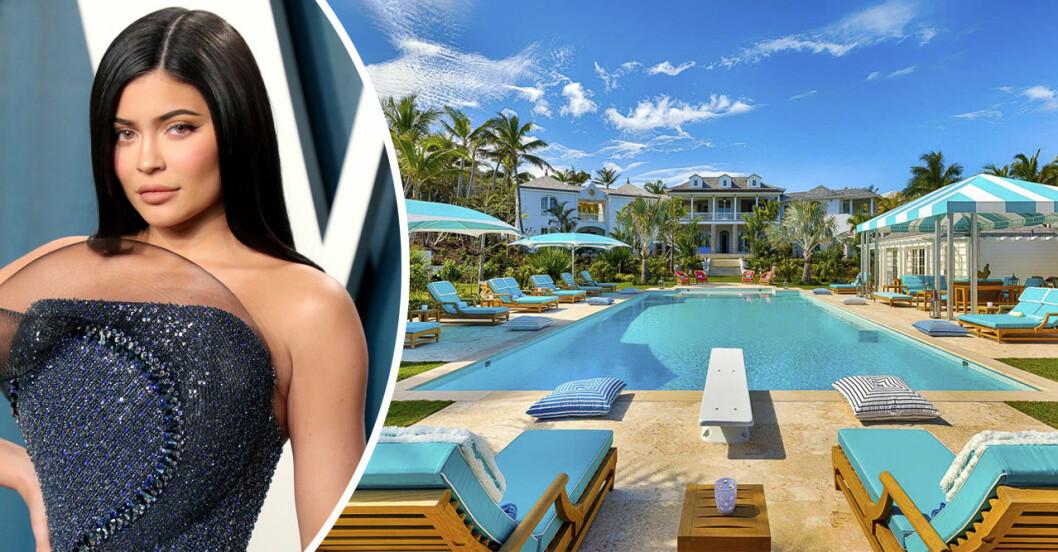 Kylie Jenner och en pool