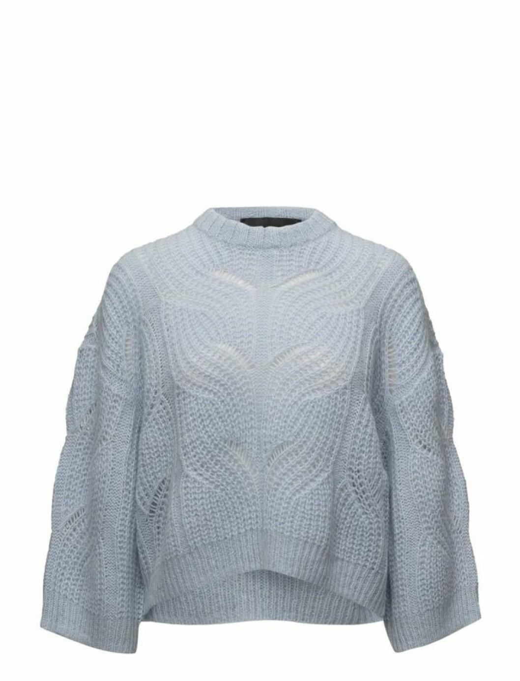 Pastellblå stickad tröja från Gestuz