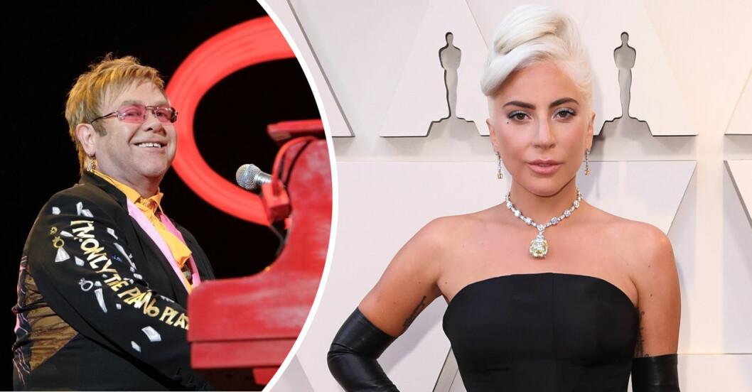 Lady Gaga och Elton John