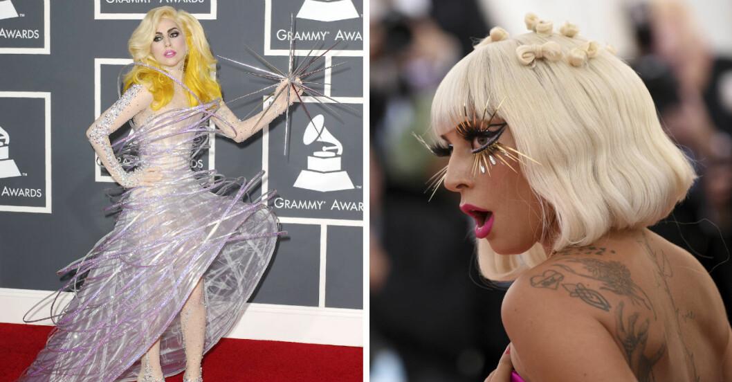 Lady Gaga på röda mattan.