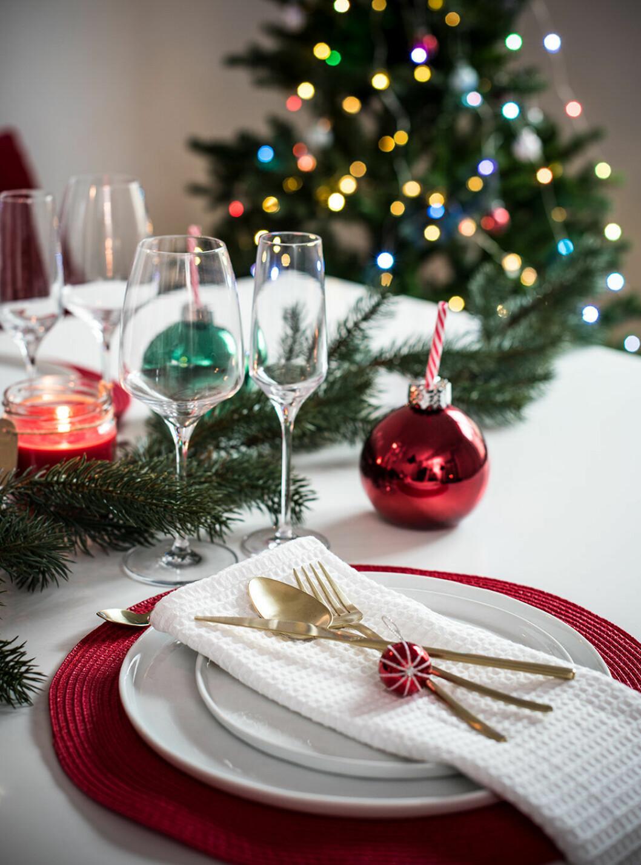 Juldukat bord hos Lagerhaus 2019