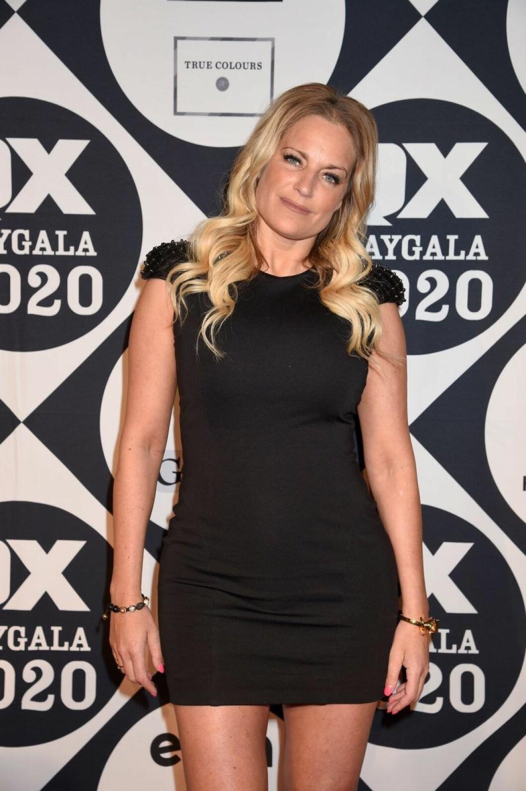 Laila Bagge på röda mattan på QX-galan 2020