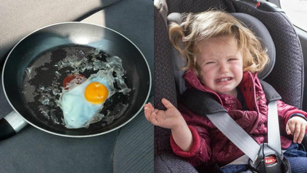 Lämna inte barn i varma bilar