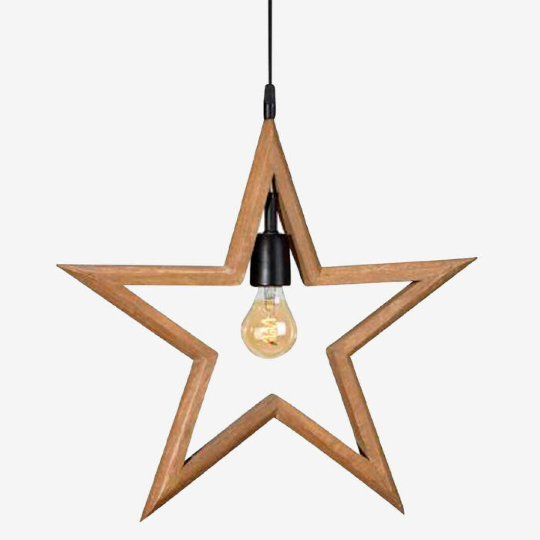 Lampa stjärna från Ellos