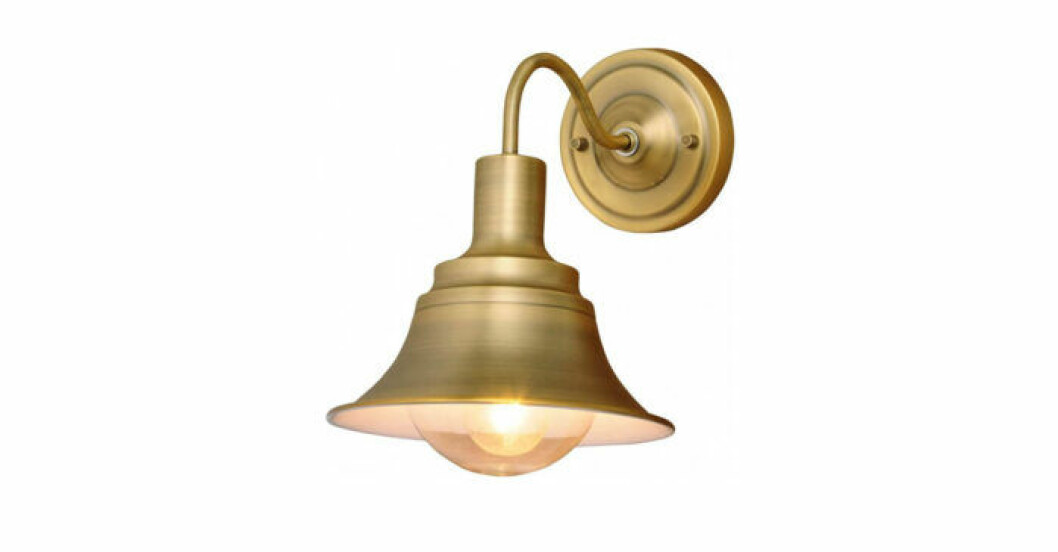 Badrumslampa i mässing