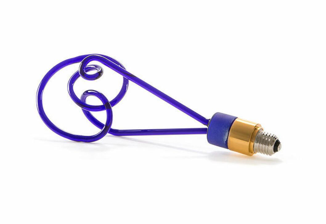 Twist lampa från Seletti i koboltblått