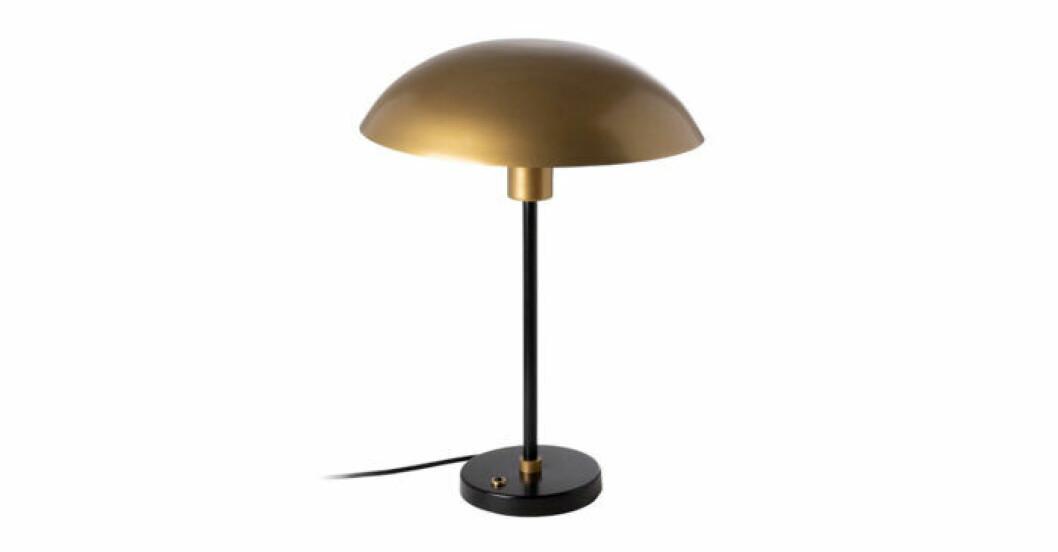 Svart lampa mässing