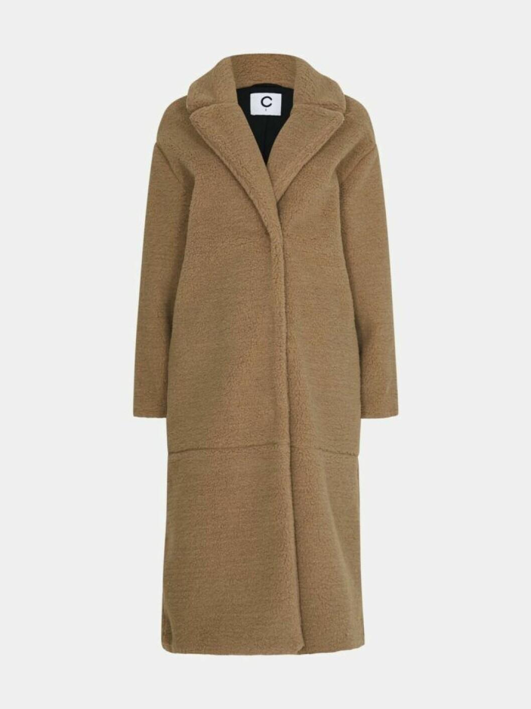 Lång kappa i brun färg