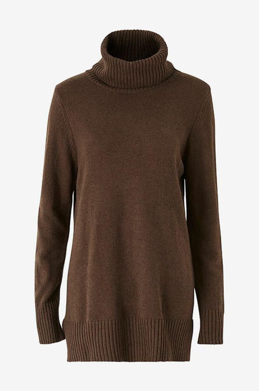 Lång polotröja i brun nyans från Ellos Collection