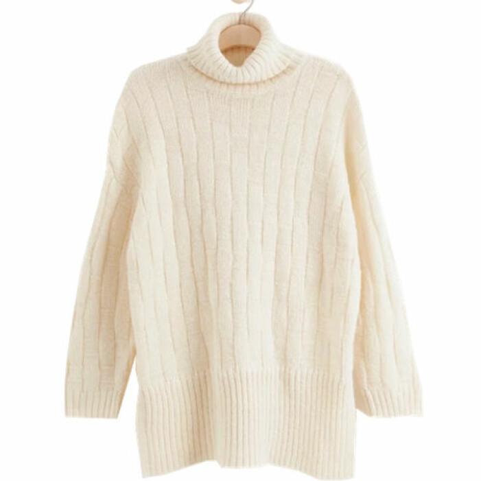 Lång stickad tröja från Lindex