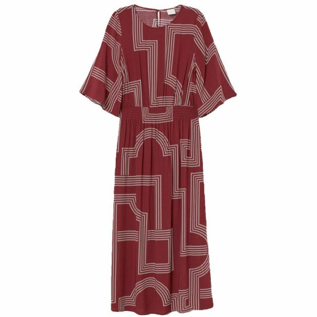 Röd långklänning från H&M