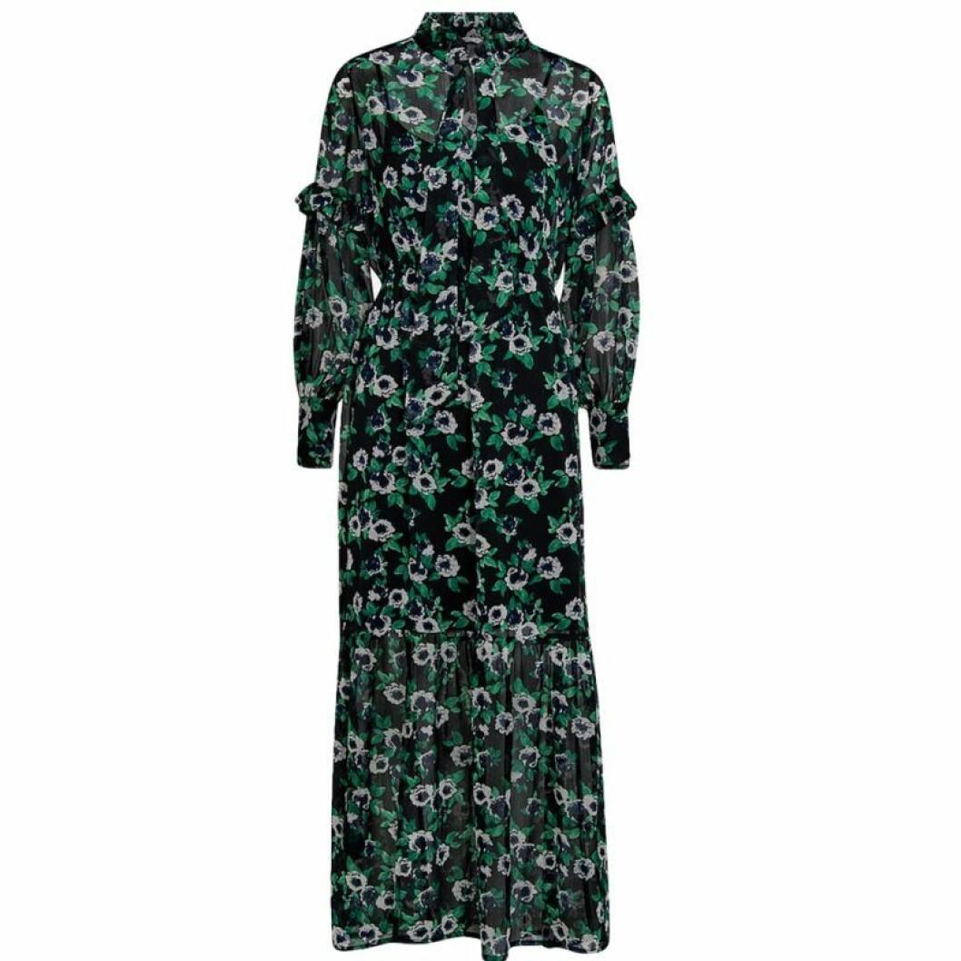 Grön klänning i chiffong