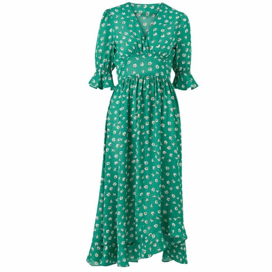 Grön maxiklänning