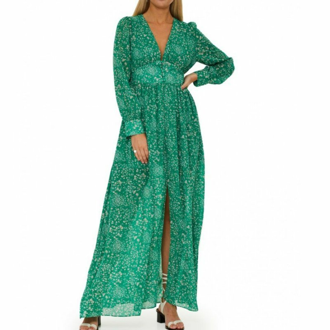 Grön maxiklänning från Adoore