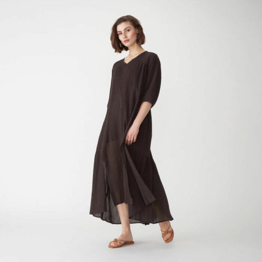 Brun långklänning från Wera