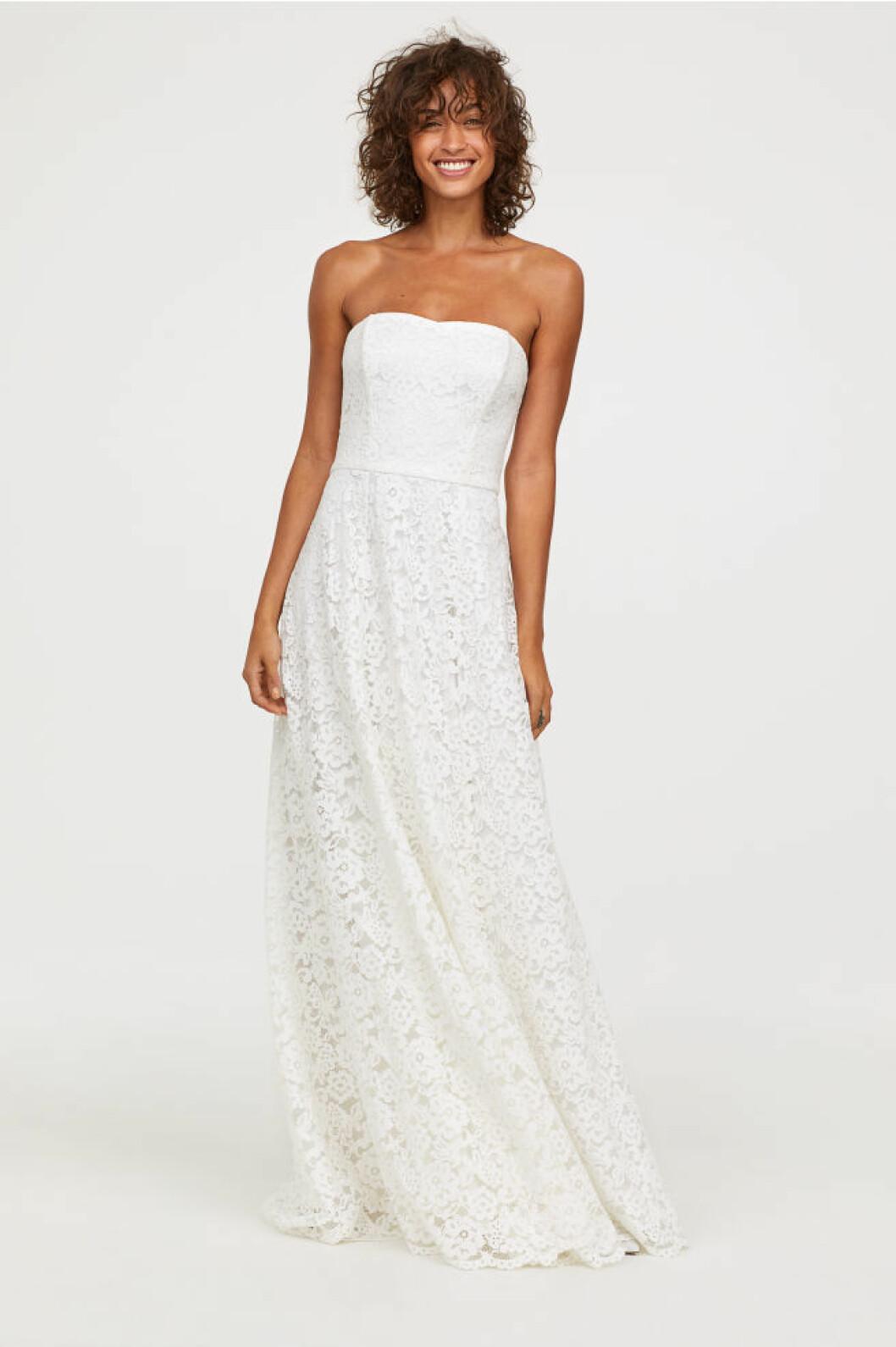 Spetsklänning från H&M brudklänning
