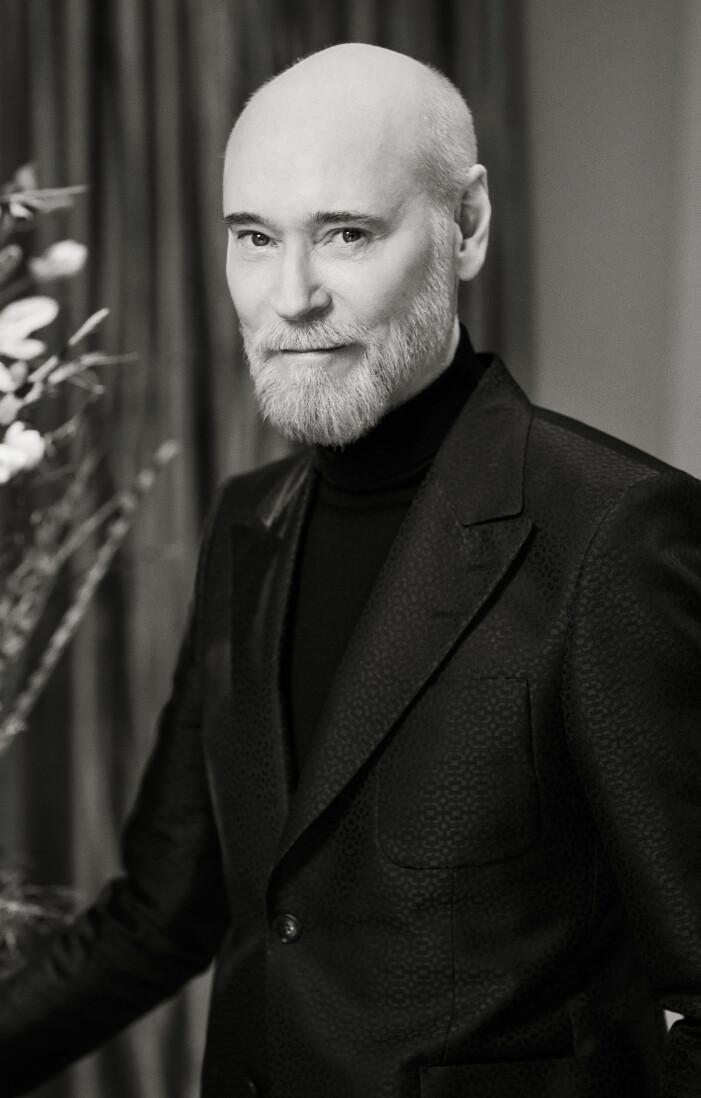 Lars Wallin i sin ateljé