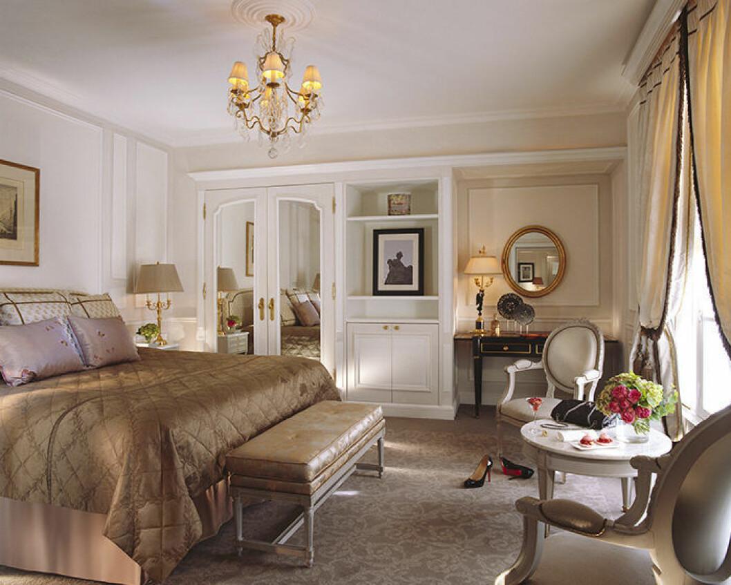 Svit på hotellet Le Meurice i Paris