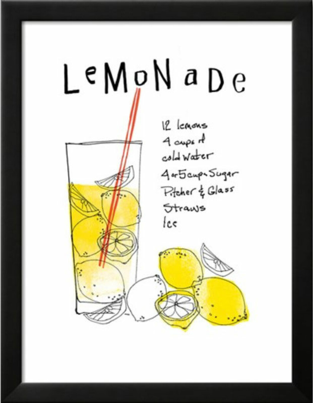 Poster med lemonadrecept av Mo Mullan.