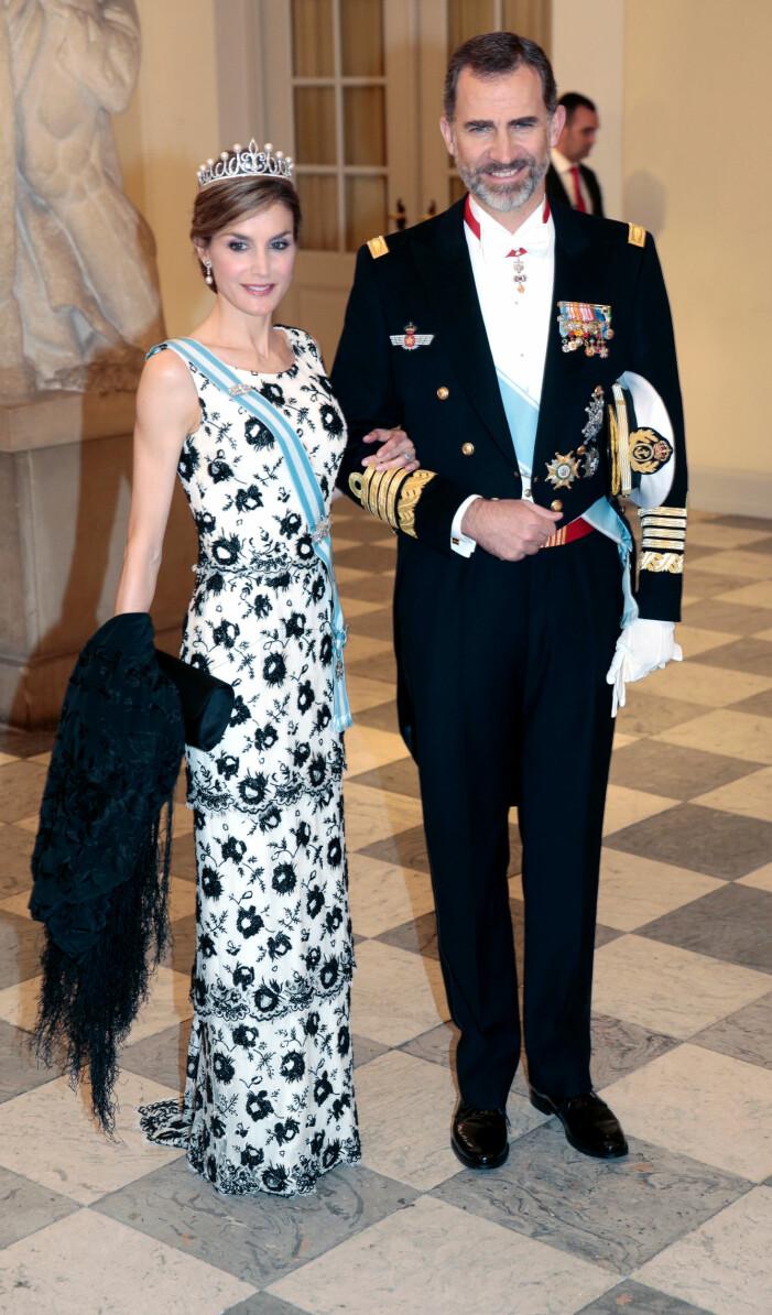 Drottning Letizia och kung Felipe av Spanien