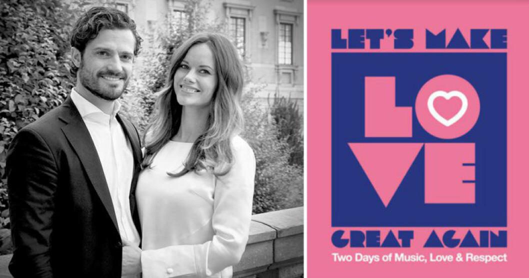 Prins Carl Philip och Sofia startar festivalen Let's Make Love Great Again