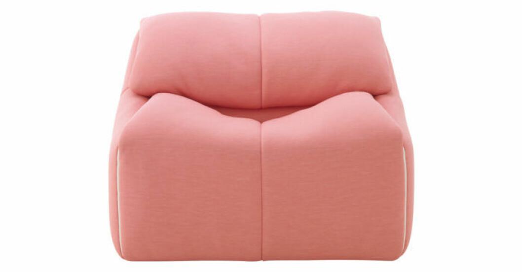 Trendig fåtölj i rosa från Ligne Roset