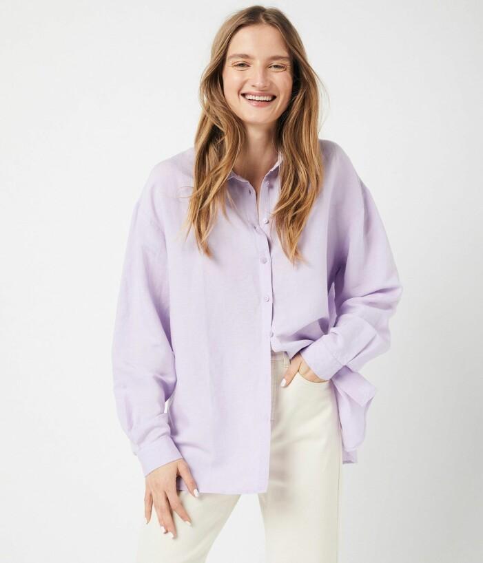 lila skjorta dam