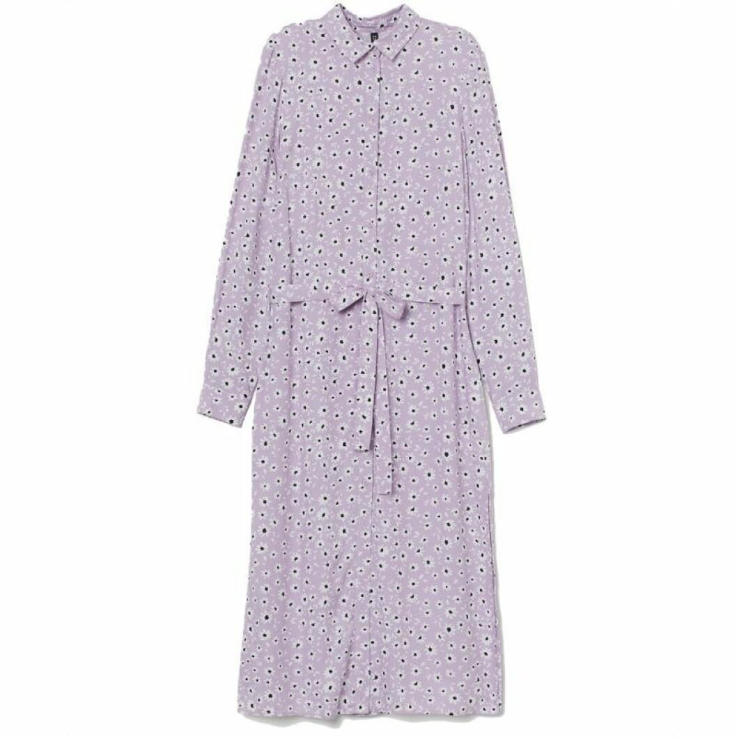 Lila skjortklänning från H&M