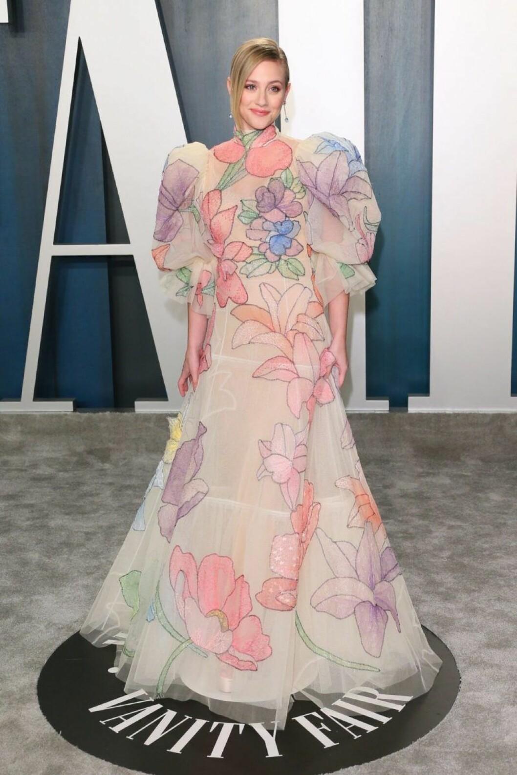 Lili Reinhart på Oscarsgalans efterfest