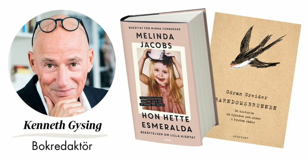 """Feminas bokredaktör tipsar om tre böcker du inte får missa i höst. Högst i topp ligger boken """"Hon hette Esmeralda – berättelsen om lilla hjärtat"""" av Melinda Jacobs och Minna Tunberger."""