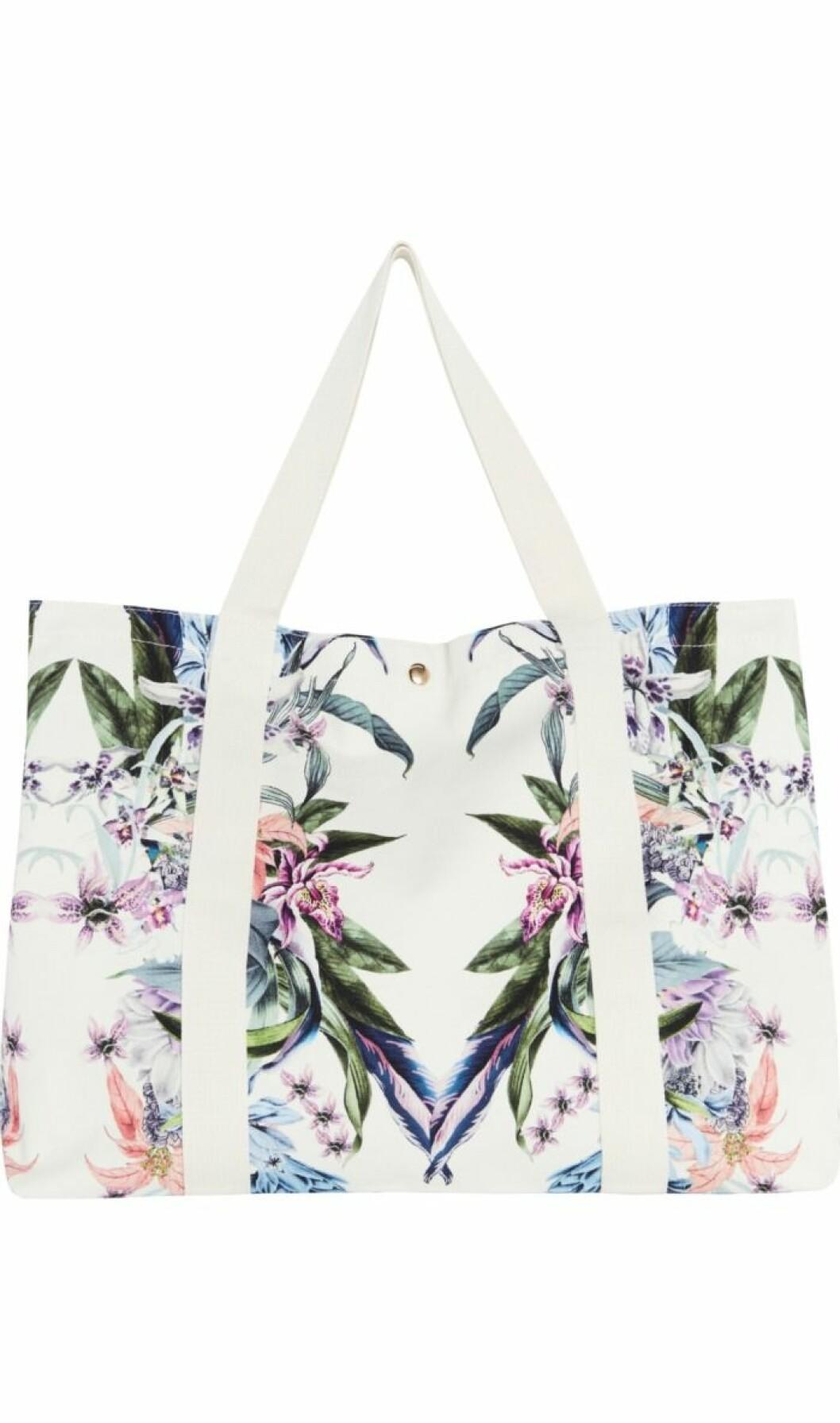 Strandväska med blommönster By Malina
